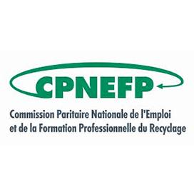 Logo de la commission paritaire nationale de l'emploi et de la formation professionnelle du Recyclage