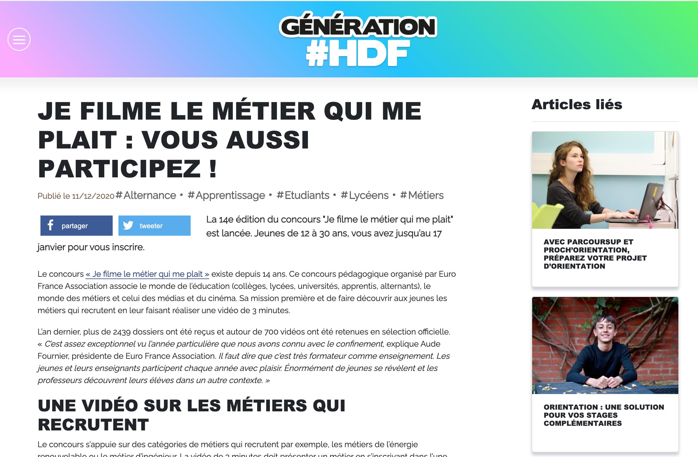 Génération Hauts-de-France - 11/12/2020