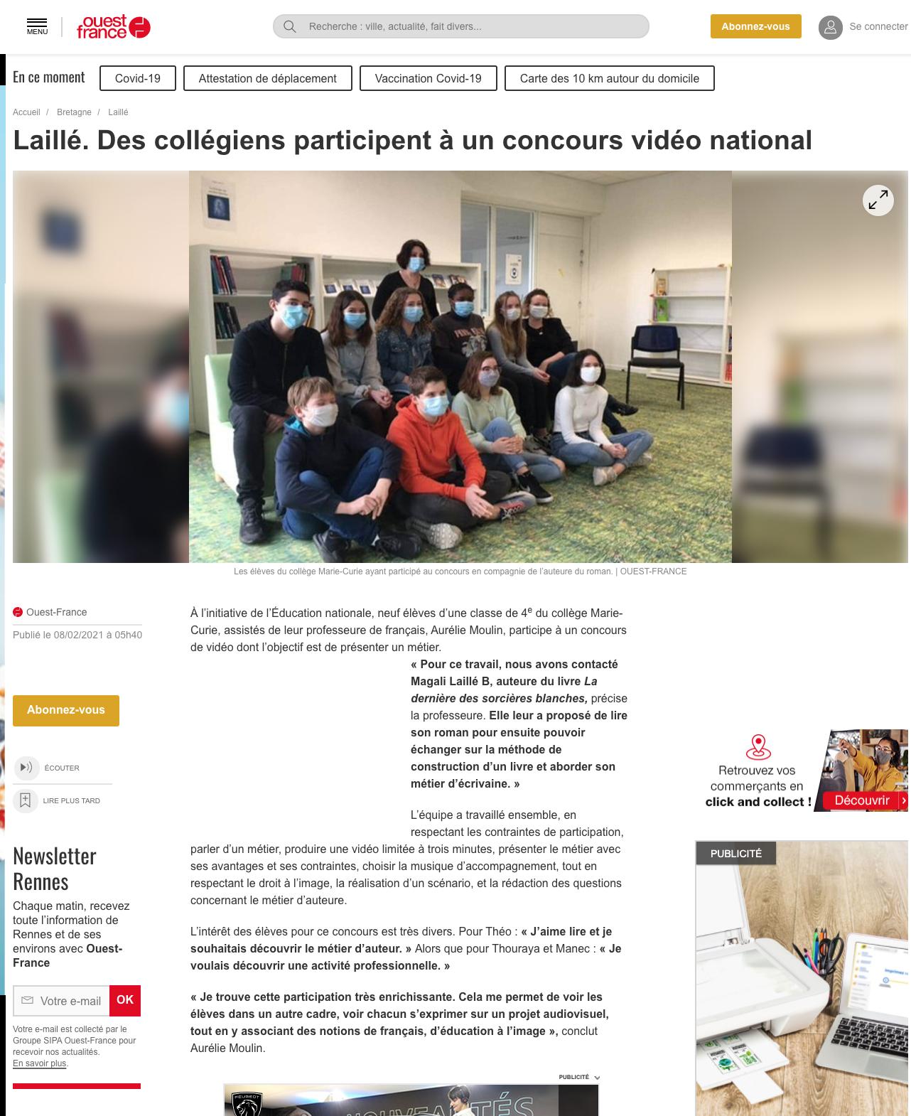 Ouest-France.fr - 08/02/2021