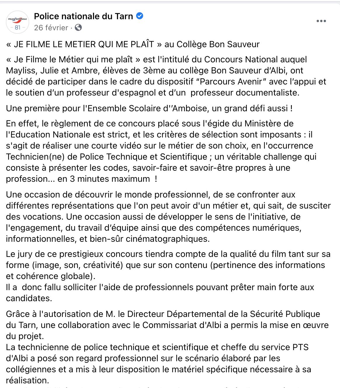 Police Nationale du Tarn - 26/02/2021
