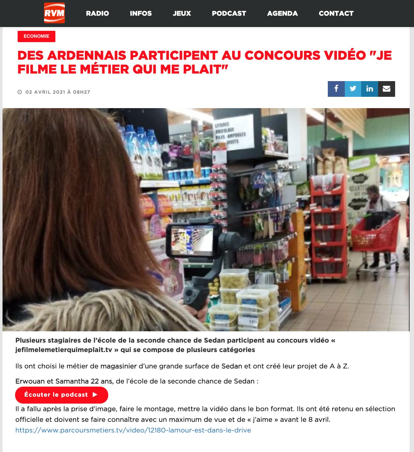 """Des Ardennais participent au concours vidéo """"Je filme le métier qui me plaît"""""""