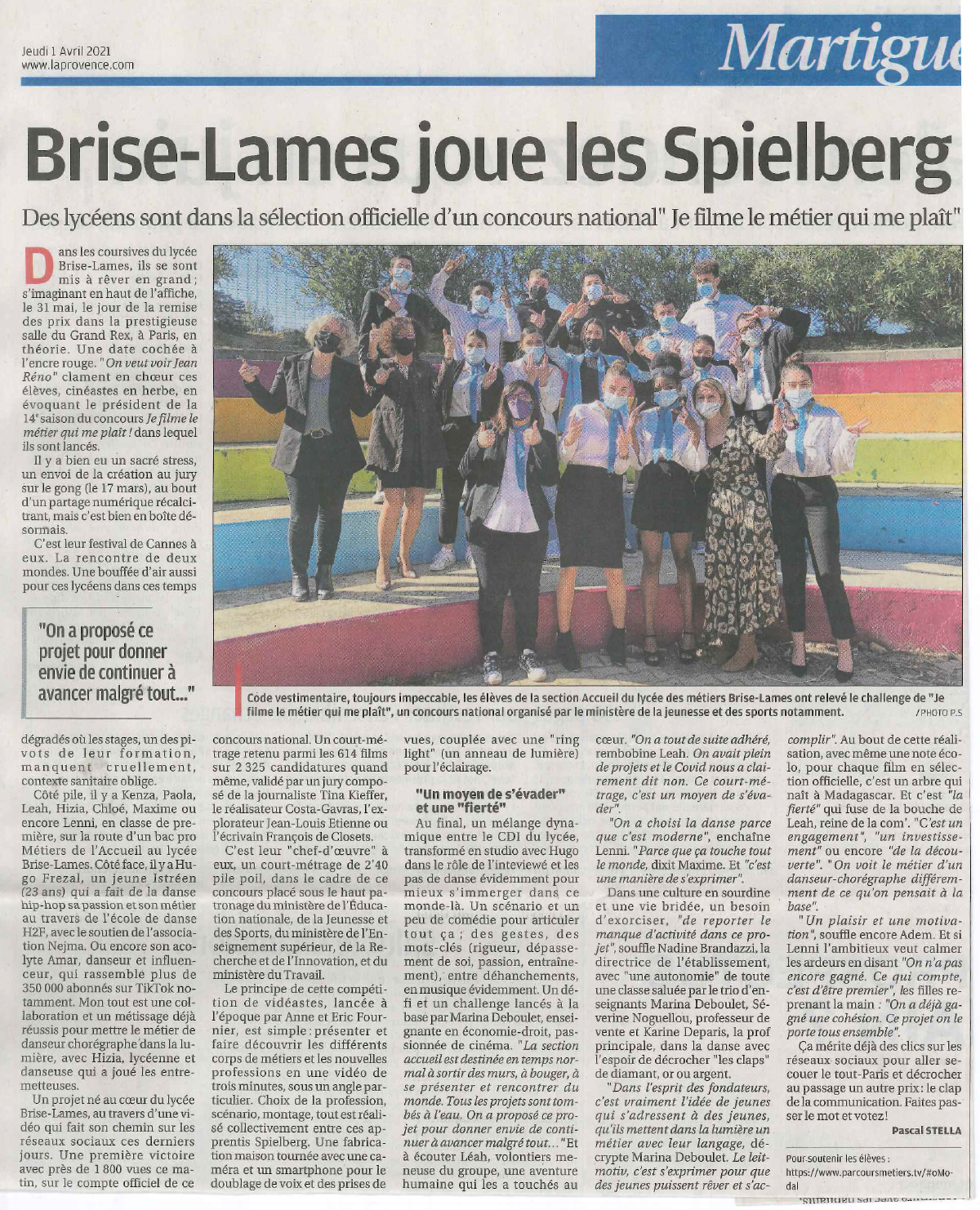 Brise-Lames joue les Spielberg