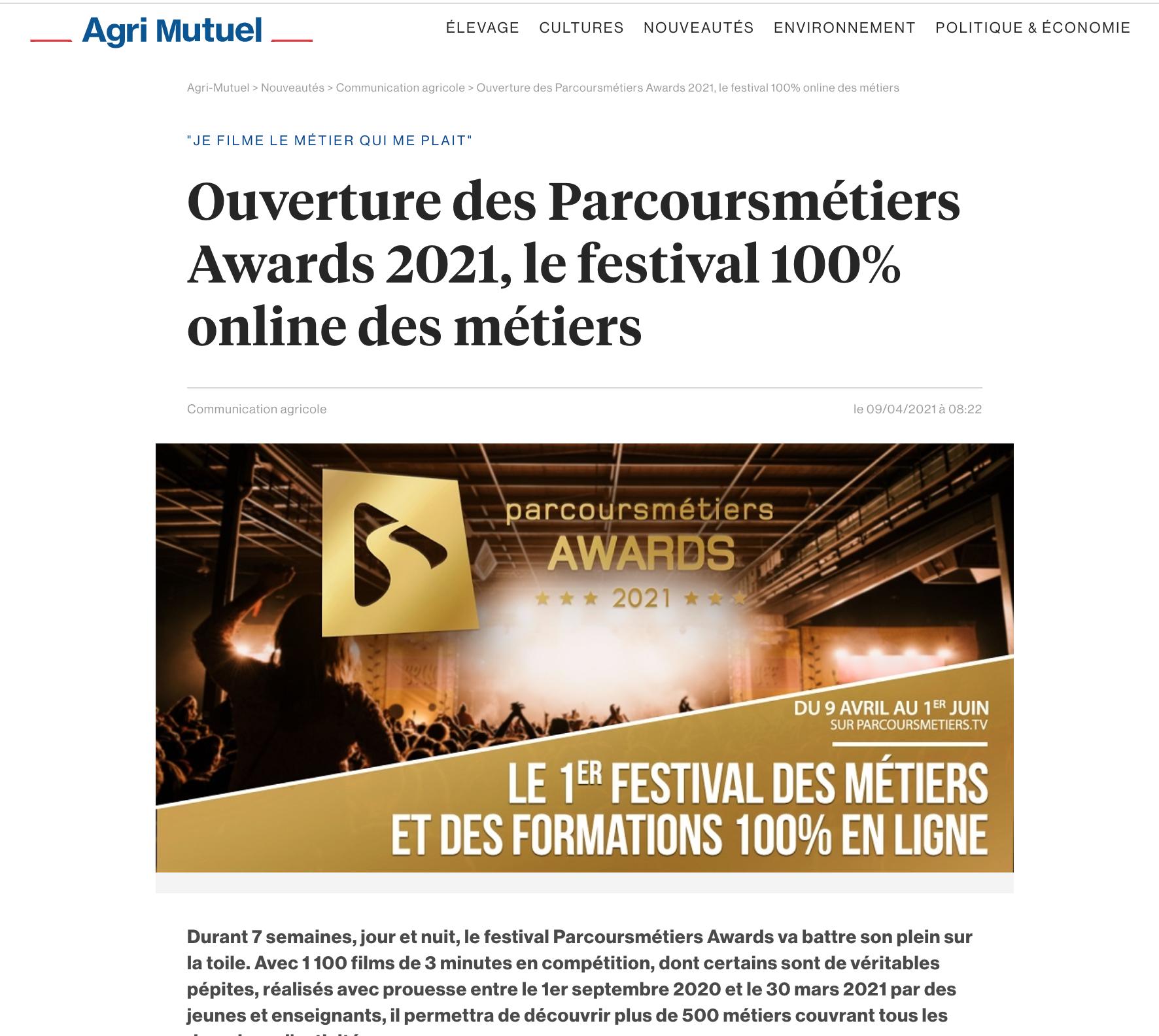 Agri Mutuel - 09/04/2021