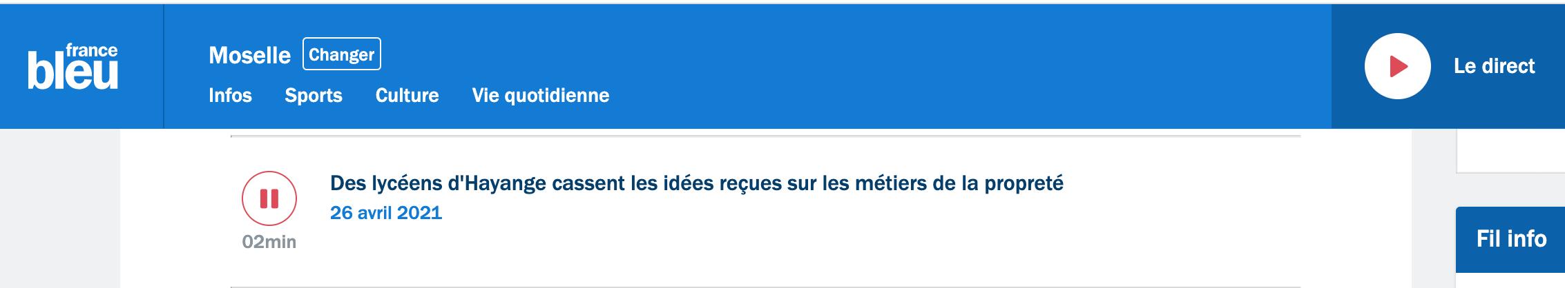France Bleu - 26/04/2021