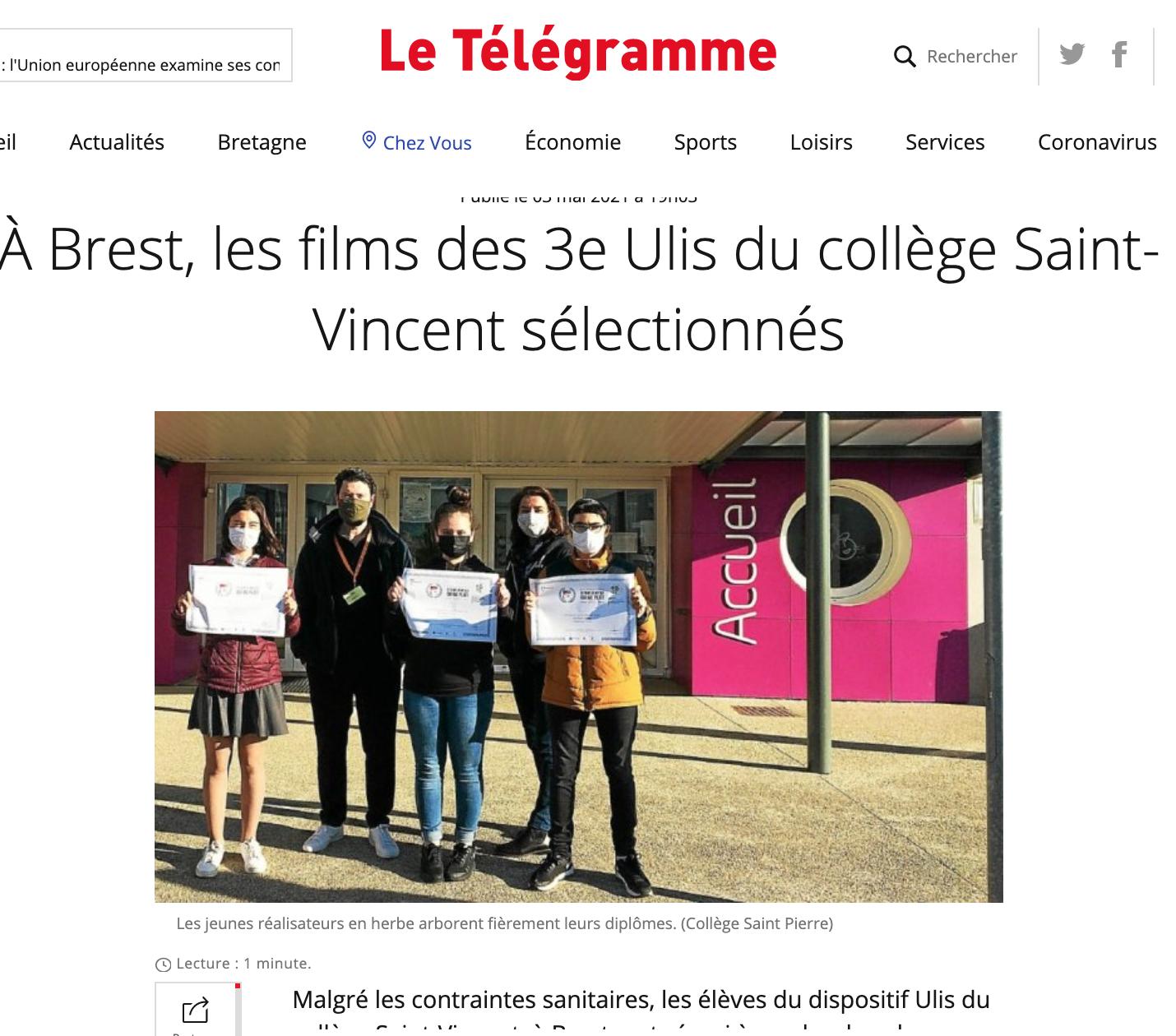Le Télégramme - 03/05/2021