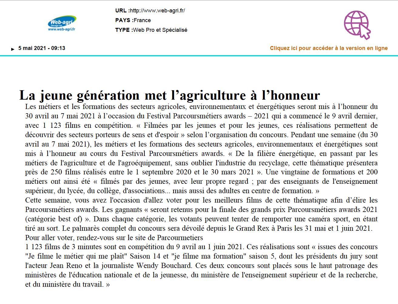 Web-Agri.fr - 05/05/2021