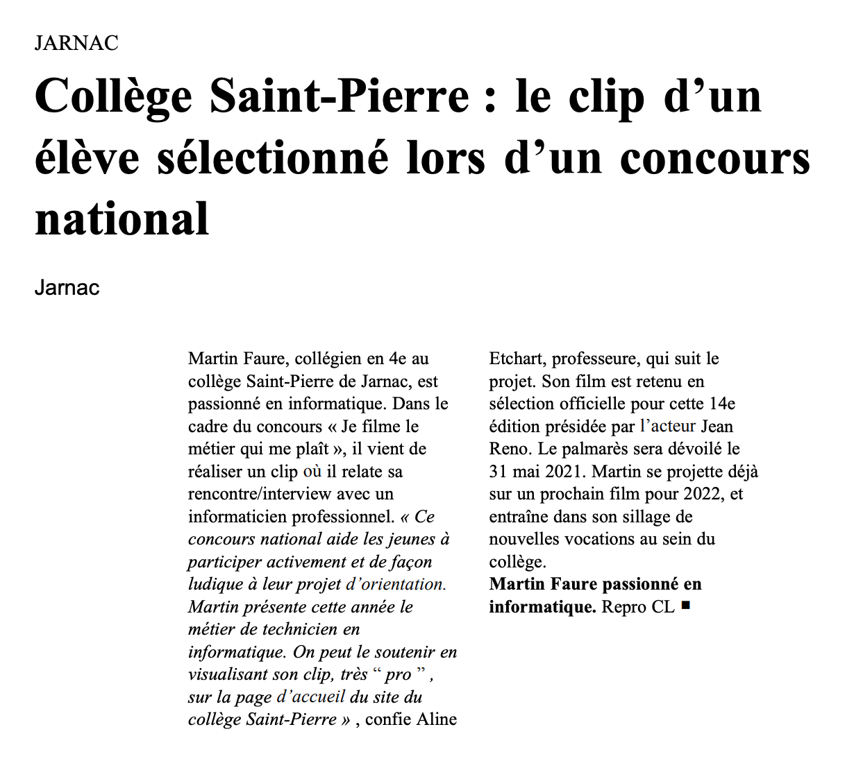 La Charente Libre - 06/05/2021