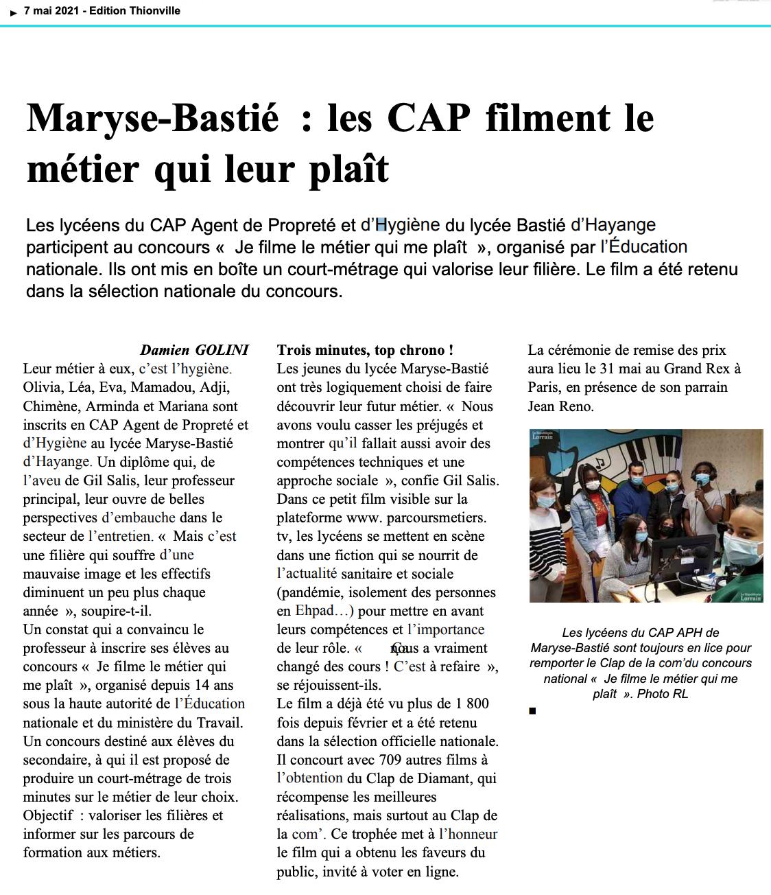 Le Républicain Lorrain - 07/05/2021