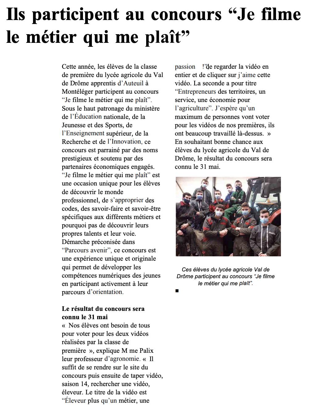 Le Dauphiné Libéré - 07/05/2021
