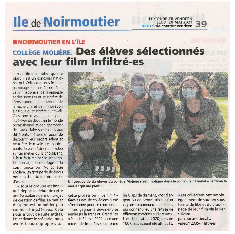 Le Courrier Vendéen- 20/05/2021