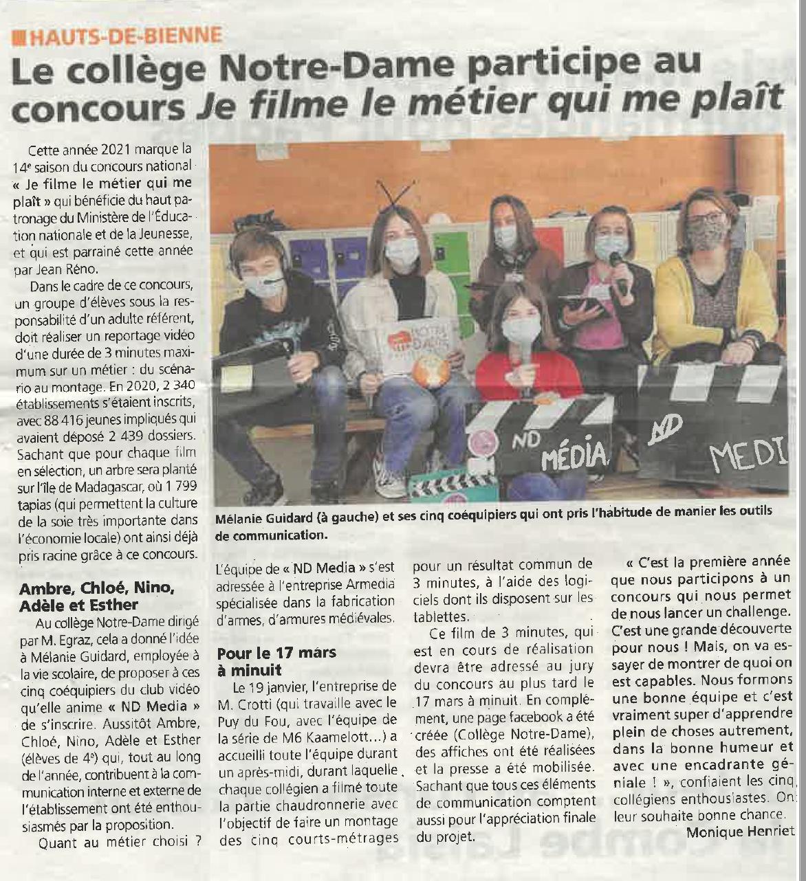 Voix du Jura- 10/03/2021