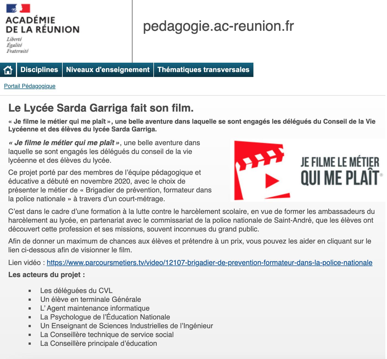 Académie de La Réunion - 01/04/2021