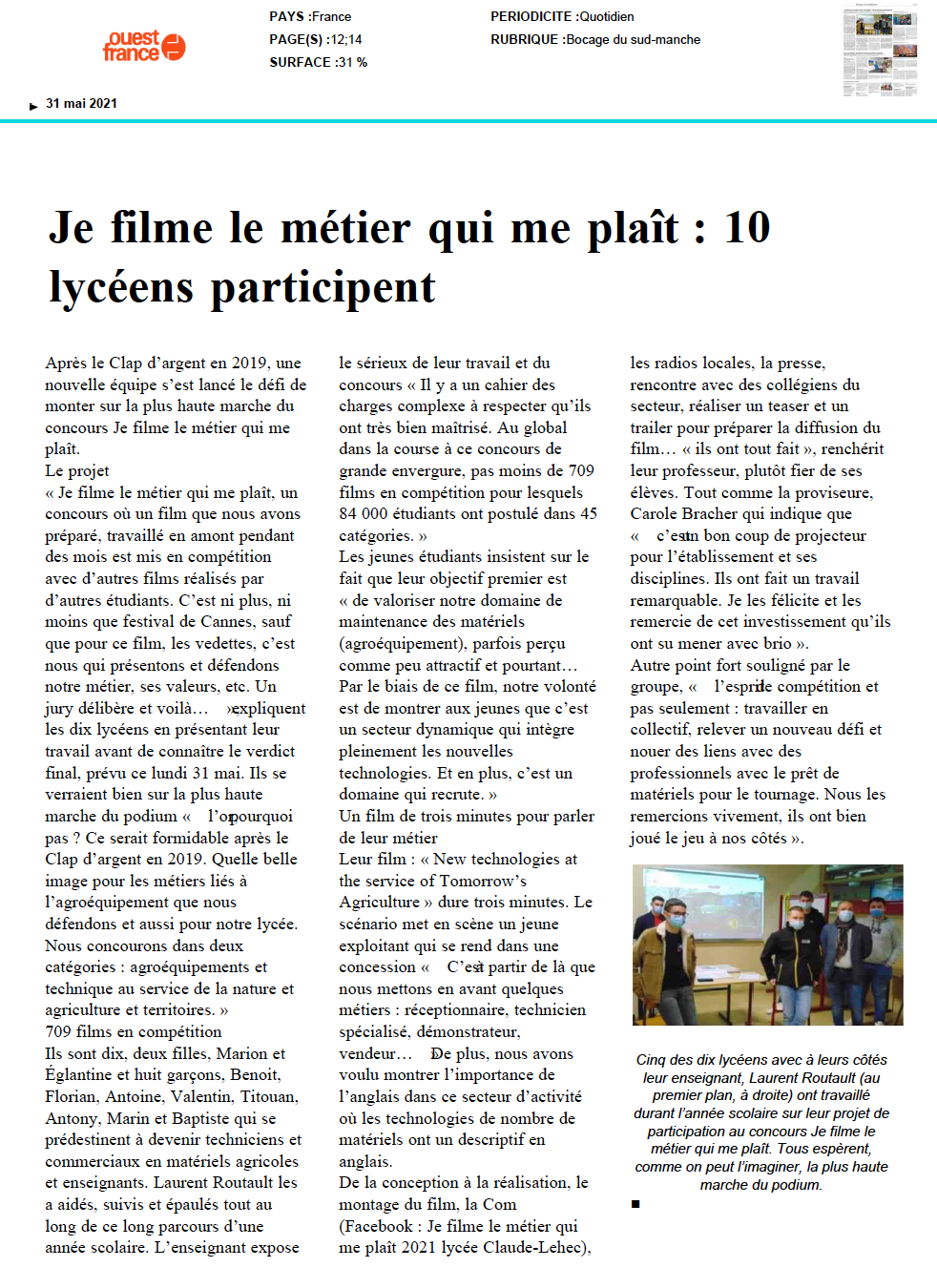 Ouest France - 31/05/2021