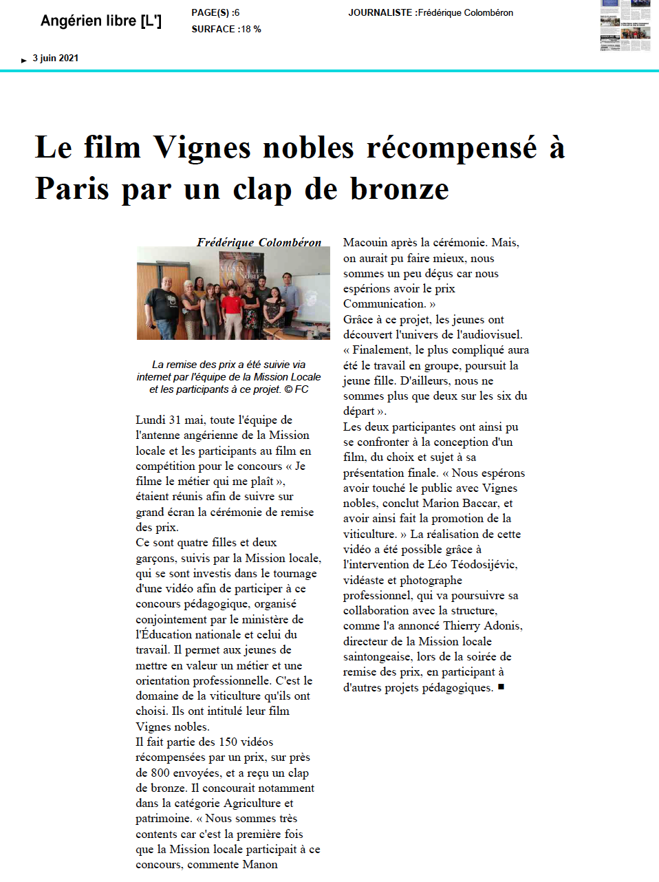 L'Angérien libre - 03/06/2021