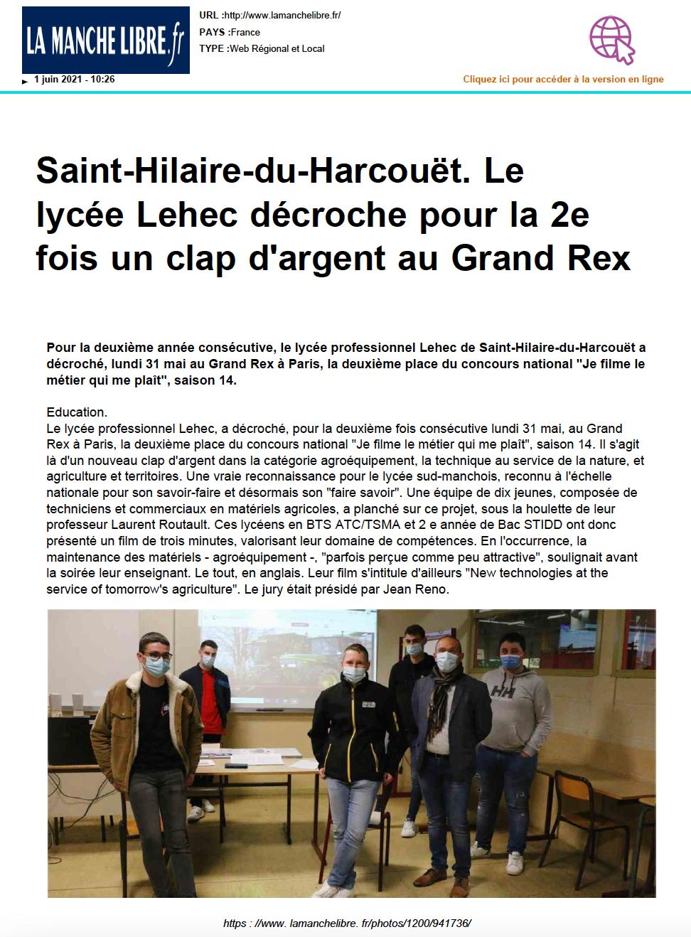 La Manche Libre.fr- 01/06/2021
