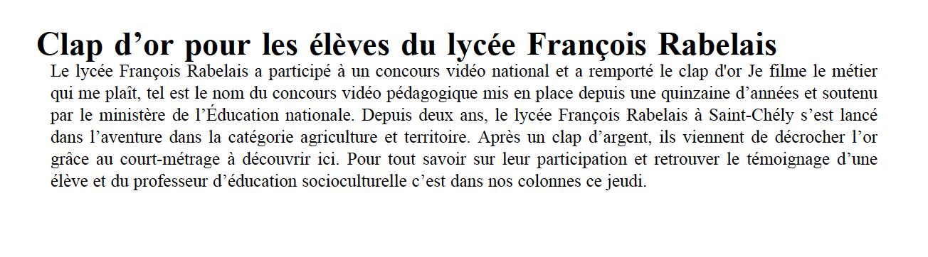 La Lozère Nouvelle - 01/06/2021