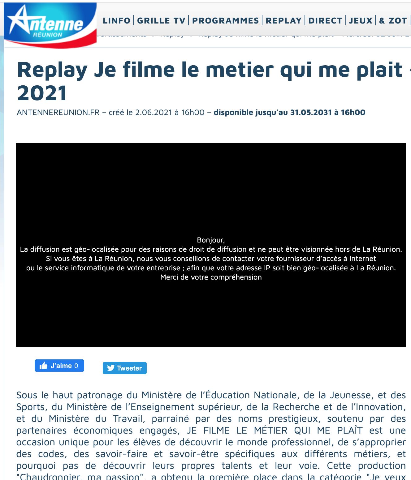 Antenne Réunion - 02/06/2021