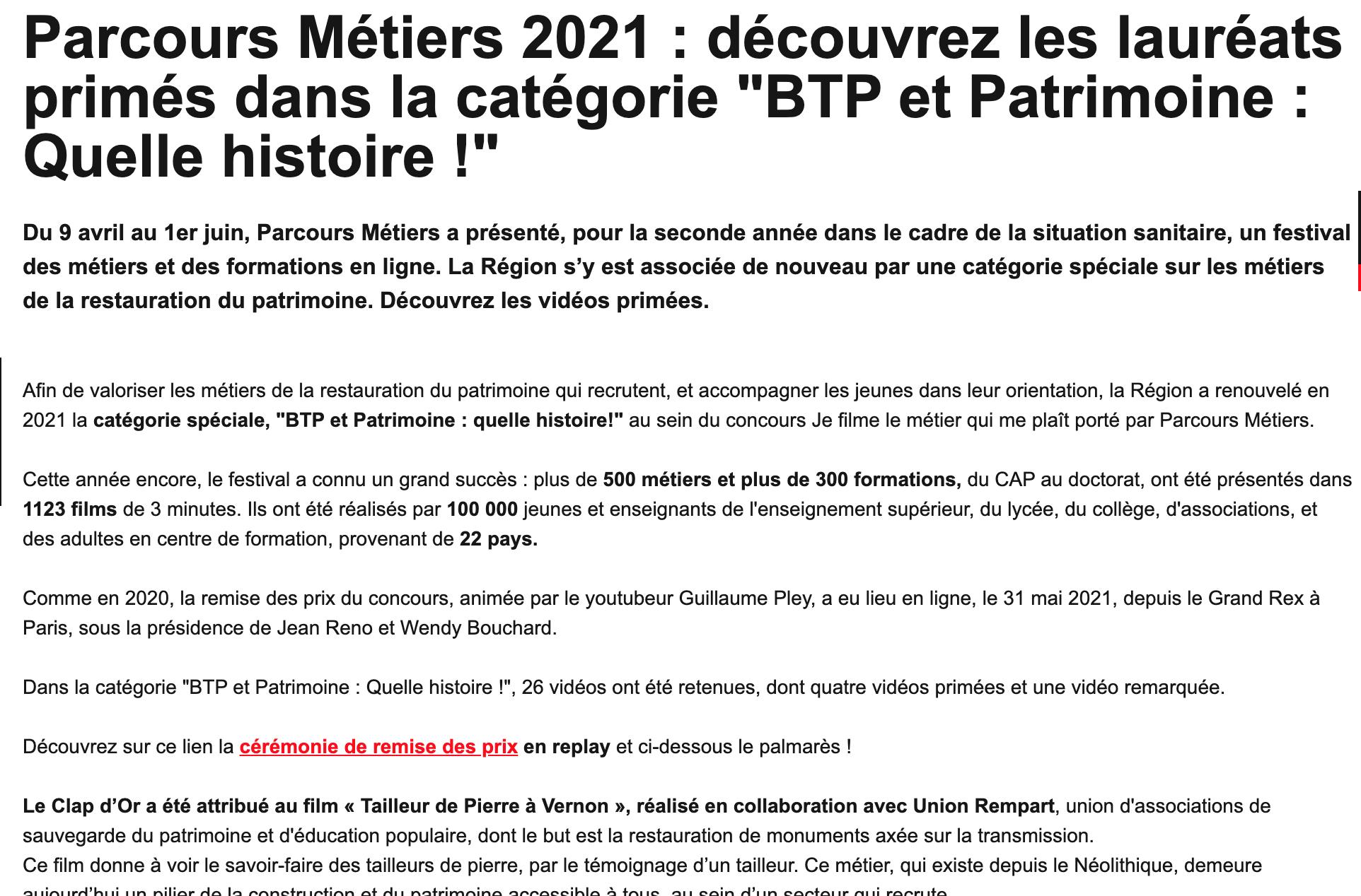 Patrimoine Île-de-France - 04/06/2021