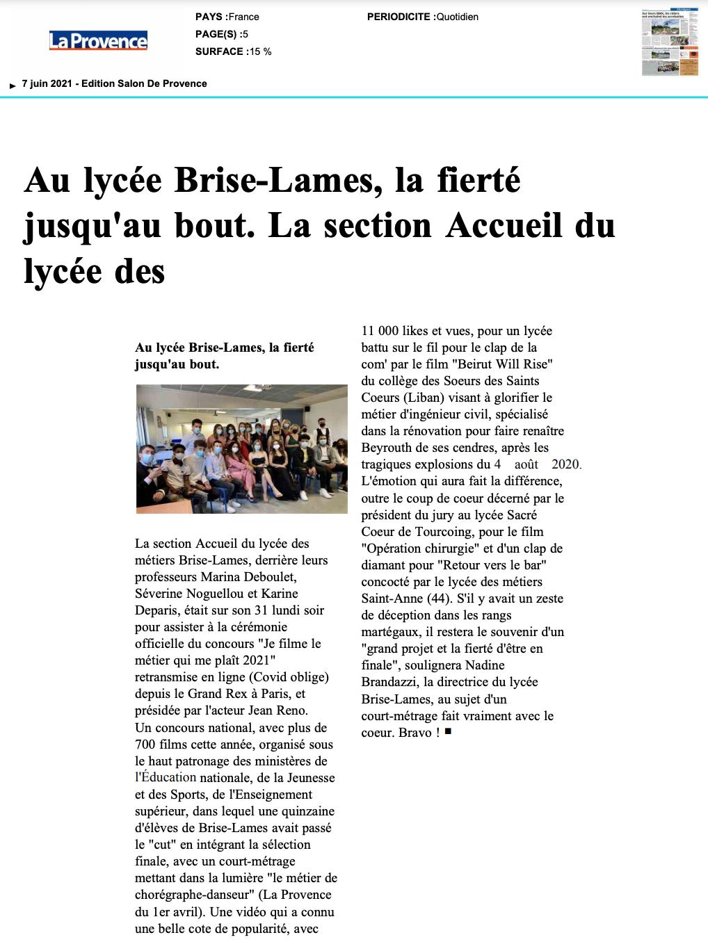 La Provence - 07/06/2021