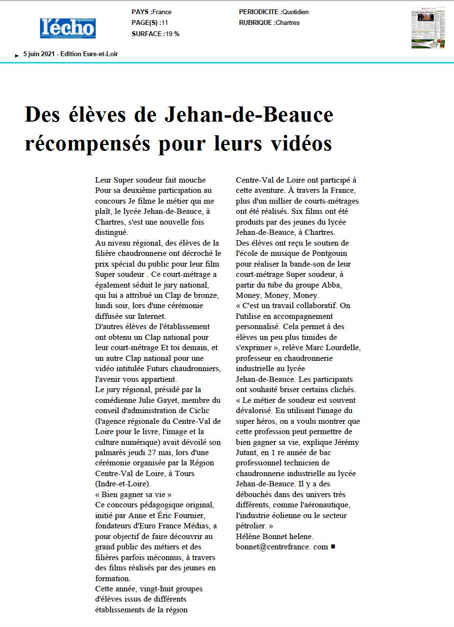 L'Echo Républicain - 05/06/2021