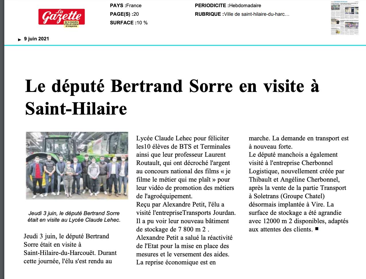 La Gazette de la Manche - 09/06/2021
