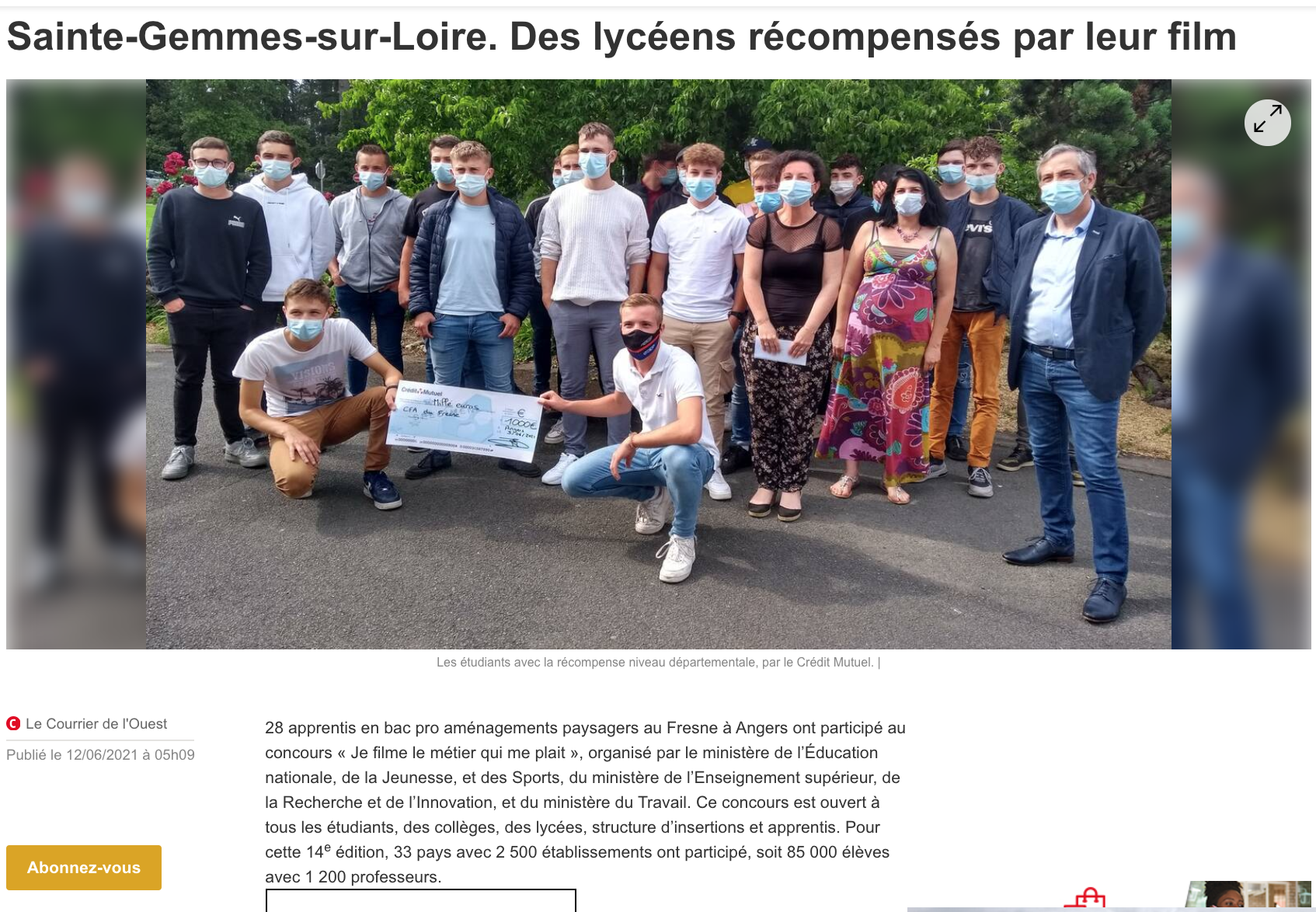 Ouest France - 12/06/2021