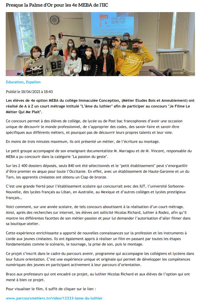 CentrePresse.fr - 18/06/2021
