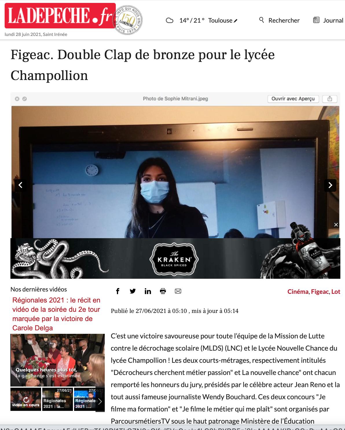 La Dépêche - 27/06/2021