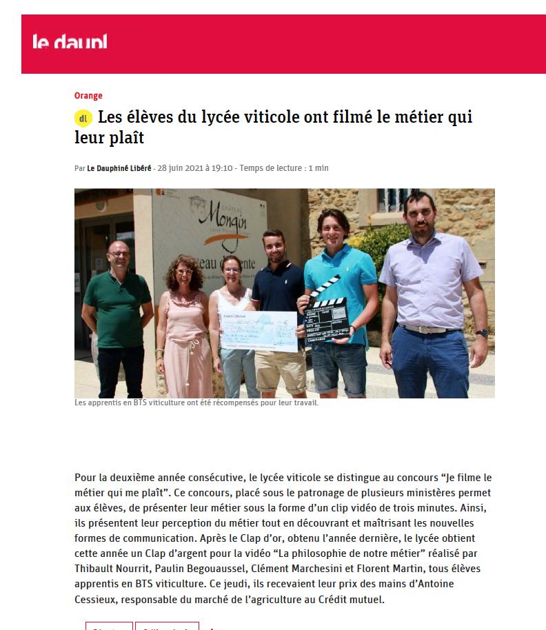 Le Dauphiné Libéré - 28/06/2021